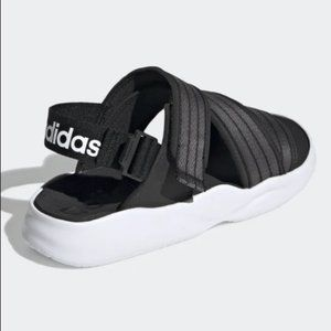 Adidas 90s strappy Sandals Black 7 criss cross